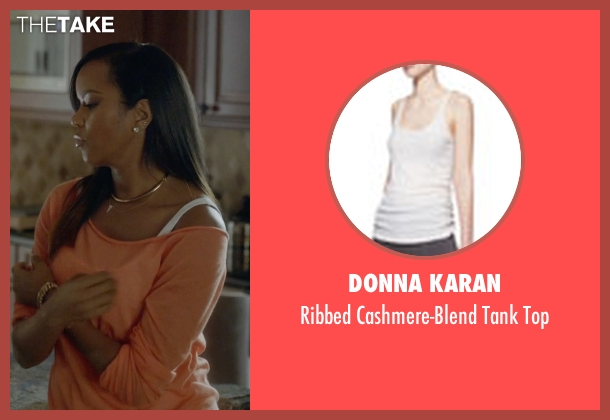 Donna Karan white top from Ballers seen with Tina (LeToya Luckett)