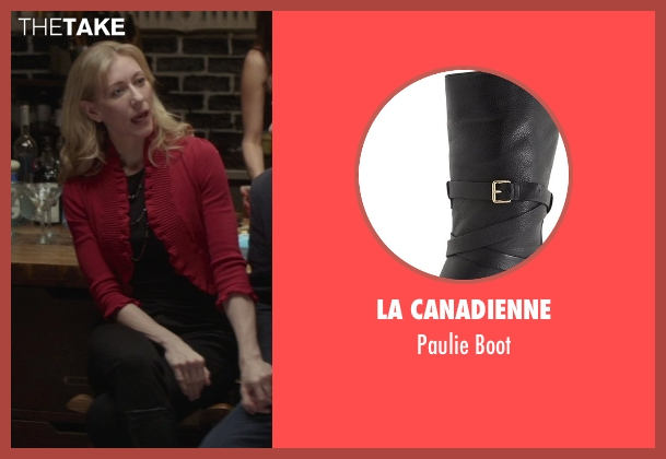 La Canadienne black boot from That Awkward Moment seen with Tina Benko (Ellie's Mom)