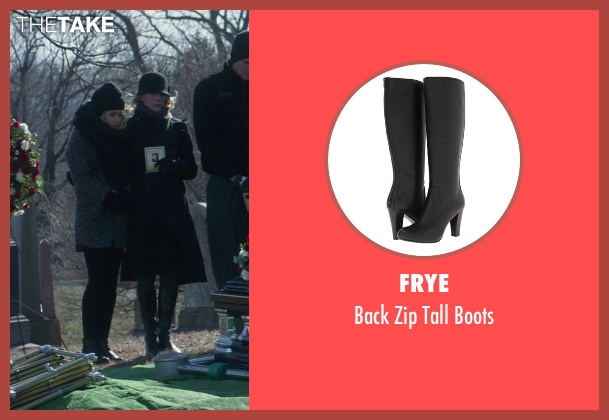 Frye black boots from That Awkward Moment seen with Tina Benko (Ellie's Mom)