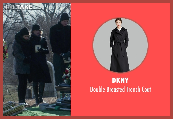 DKNY black coat from That Awkward Moment seen with Tina Benko (Ellie's Mom)