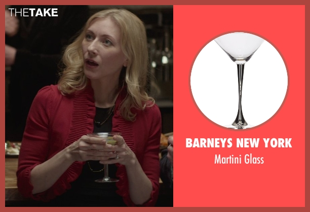 Barneys New York glass from That Awkward Moment seen with Tina Benko (Ellie's Mom)