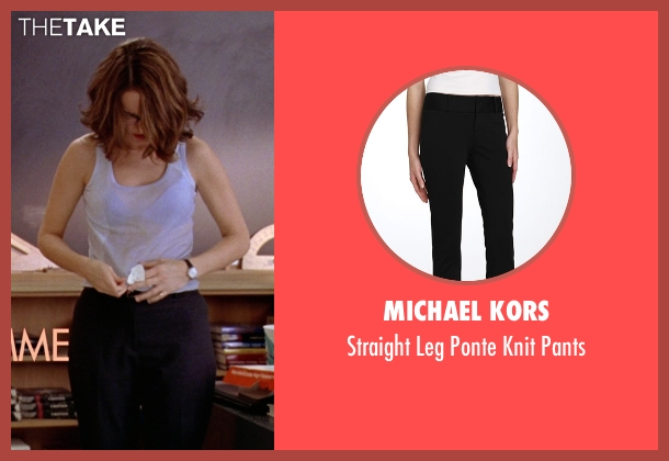 Michael Kors black pants from Mean Girls seen with Tina Fey (Ms. Norbury)