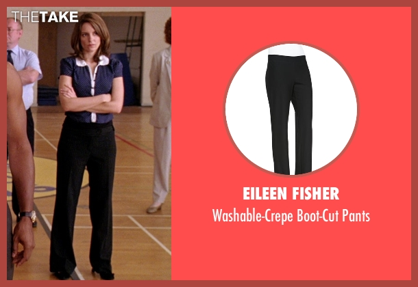 Eileen Fisher black pants from Mean Girls seen with Tina Fey (Ms. Norbury)