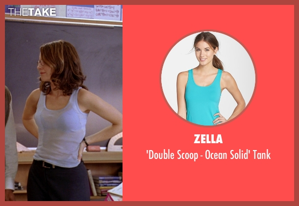 Zella blue tank from Mean Girls seen with Tina Fey (Ms. Norbury)