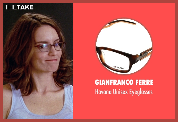 Gianfranco Ferre brown eyeglasses from Mean Girls seen with Tina Fey (Ms. Norbury)