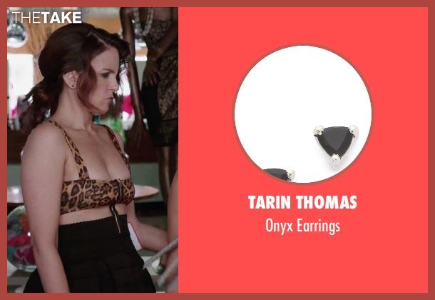 Tarin Thomas black earrings from Sisters seen with Tina Fey (Katie Ellis)