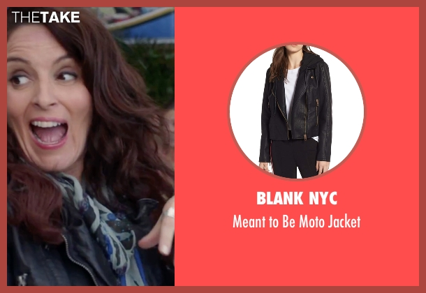 Barneys black jacket from Sisters seen with Tina Fey (Katie Ellis)