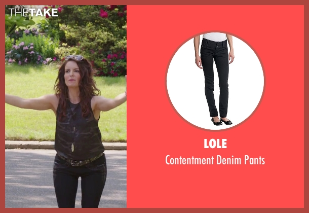 Lole black pants from Sisters seen with Tina Fey (Katie Ellis)