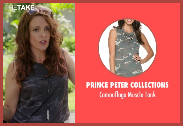 Prince Peter Collections black tank from Sisters seen with Tina Fey (Katie Ellis)