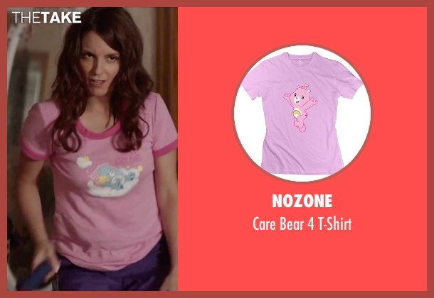 Nozone pink t-shirt from Sisters seen with Tina Fey (Katie Ellis)
