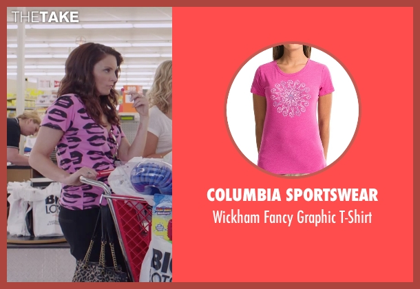 Columbia Sportswear  pink t-shirt from Sisters seen with Tina Fey (Katie Ellis)