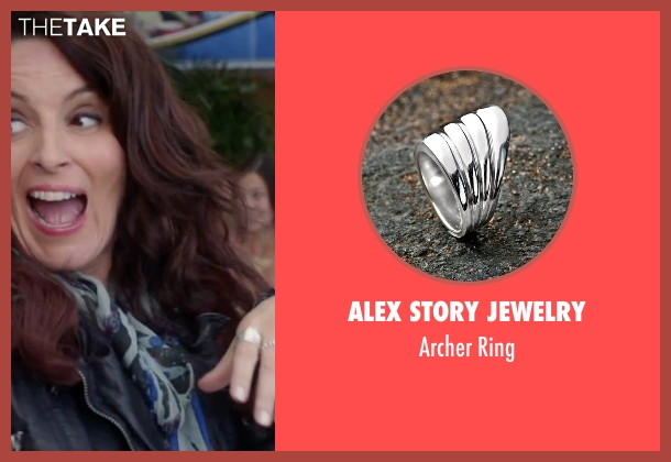 Alex Story Jewelry silver ring from Sisters seen with Tina Fey (Katie Ellis)
