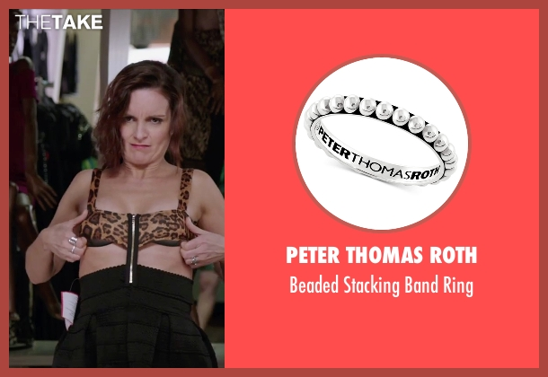 Pandora silver ring from Sisters seen with Tina Fey (Katie Ellis)
