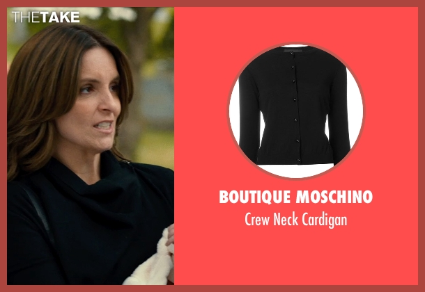 Boutique Moschino black cardigan from This Is Where I Leave You seen with Tina Fey (Wendy Altman)