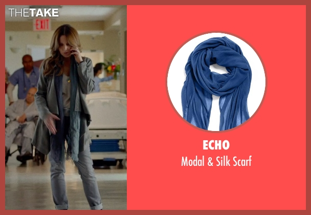 Echo blue scarf from This Is Where I Leave You seen with Tina Fey (Wendy Altman)