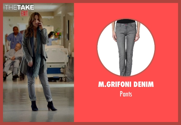 M.GRIFONI DENIM gray pants from This Is Where I Leave You seen with Tina Fey (Wendy Altman)