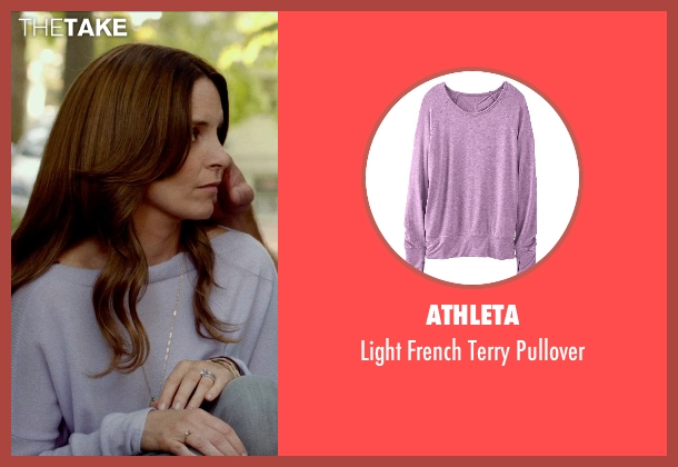 ATHLETA purple pullover from This Is Where I Leave You seen with Tina Fey (Wendy Altman)