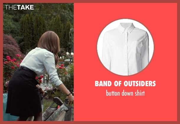 BAND OF OUTSIDERS white shirt from This Is Where I Leave You seen with Tina Fey (Wendy Altman)