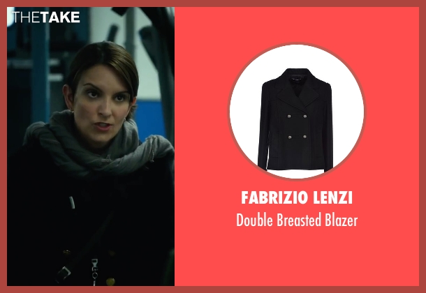 Fabrizio Lenzi black blazer from Whiskey Tango Foxtrot seen with Tina Fey (Kim Barker)
