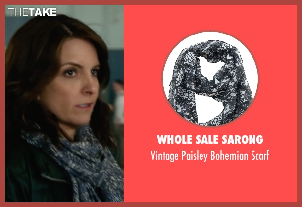 Whole Sale Sarong black scarf from Whiskey Tango Foxtrot seen with Tina Fey (Kim Barker)