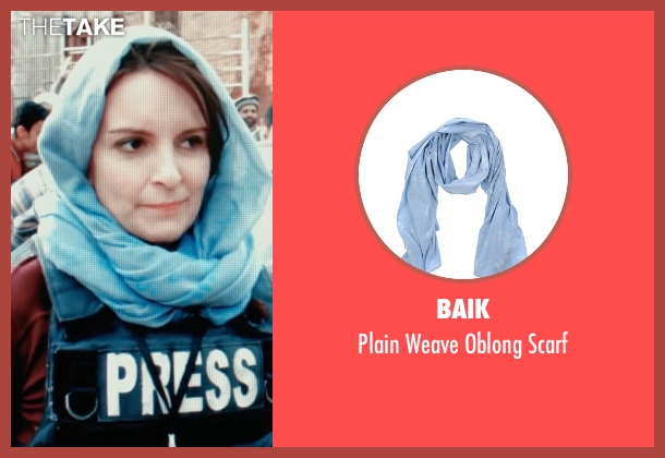 Baik blue scarf from Whiskey Tango Foxtrot seen with Tina Fey (Kim Barker)