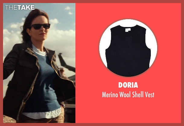 Doria blue vest from Whiskey Tango Foxtrot seen with Tina Fey (Kim Barker)