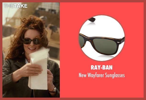 Ray-Ban brown sunglasses from Whiskey Tango Foxtrot seen with Tina Fey (Kim Barker)