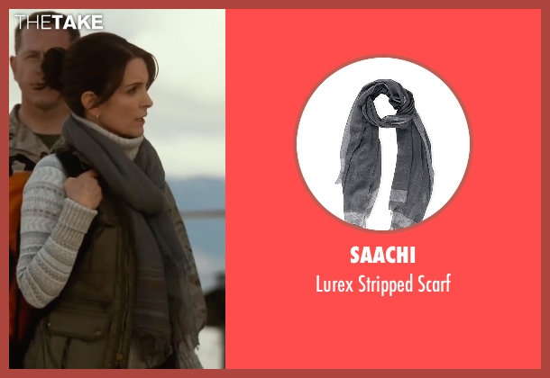 Saachi gray scarf from Whiskey Tango Foxtrot seen with Tina Fey (Kim Barker)