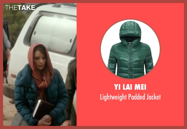 Yi Lai Mei green jacket from Whiskey Tango Foxtrot seen with Tina Fey (Kim Barker)