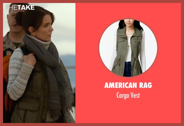 American Rag  green vest from Whiskey Tango Foxtrot seen with Tina Fey (Kim Barker)