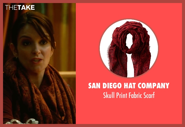 San Diego Hat Company red scarf from Whiskey Tango Foxtrot seen with Tina Fey (Kim Barker)