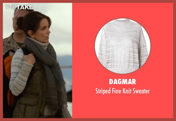 Dagmar white sweater from Whiskey Tango Foxtrot seen with Tina Fey (Kim Barker)