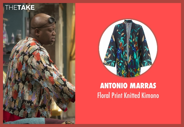 Antonio Marras black kimono from Unbreakable Kimmy Schmidt seen with Titus (Tituss Burgess)
