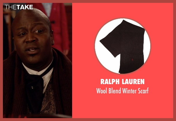 Ralph Lauren brown scarf from Unbreakable Kimmy Schmidt seen with Titus (Tituss Burgess)