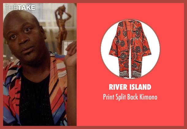 River Island orange kimono from Unbreakable Kimmy Schmidt seen with Titus (Tituss Burgess)