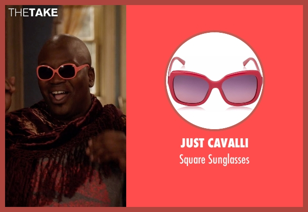 Just Cavalli pink sunglasses from Unbreakable Kimmy Schmidt seen with Titus (Tituss Burgess)