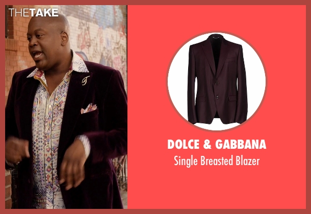 Dolce & Gabbana purple blazer from Unbreakable Kimmy Schmidt seen with Titus (Tituss Burgess)