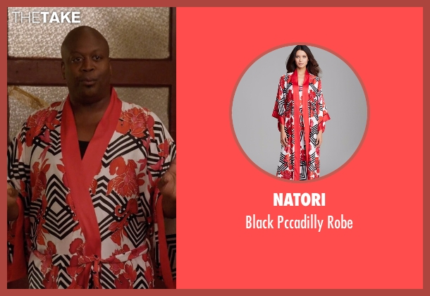 Natori red robe from Unbreakable Kimmy Schmidt seen with Titus (Tituss Burgess)