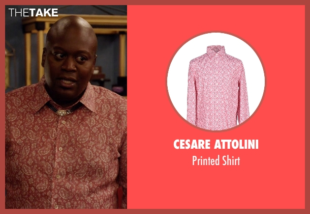 Cesare Attolini red shirt from Unbreakable Kimmy Schmidt seen with Titus (Tituss Burgess)