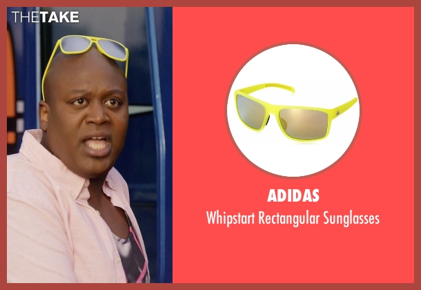 Adidas yellow sunglasses from Unbreakable Kimmy Schmidt seen with Titus (Tituss Burgess)