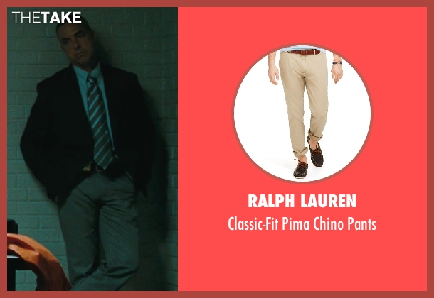 Ralph Lauren beige pants from The Town seen with Titus Welliver (Dino Ciampa)