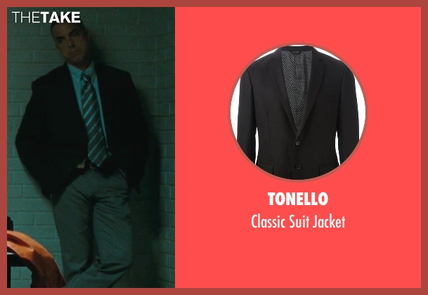 Tonello black jacket from The Town seen with Titus Welliver (Dino Ciampa)