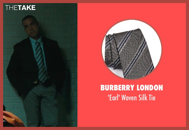 Burberry London gray tie from The Town seen with Titus Welliver (Dino Ciampa)