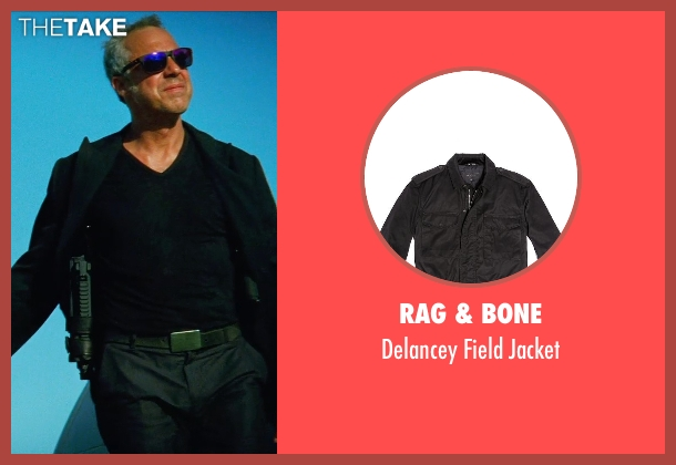 Rag & Bone black jacket from Transformers: Age of Extinction seen with Titus Welliver (Savoy)