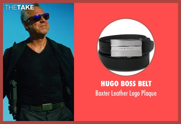 Hugo Boss Belt black plaque from Transformers: Age of Extinction seen with Titus Welliver (Savoy)
