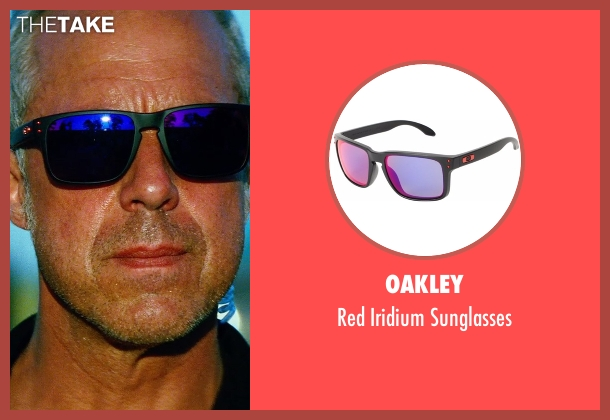 Oakley black sunglasses from Transformers: Age of Extinction seen with Titus Welliver (Savoy)