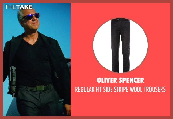 OLIVER SPENCER black trousers from Transformers: Age of Extinction seen with Titus Welliver (Savoy)