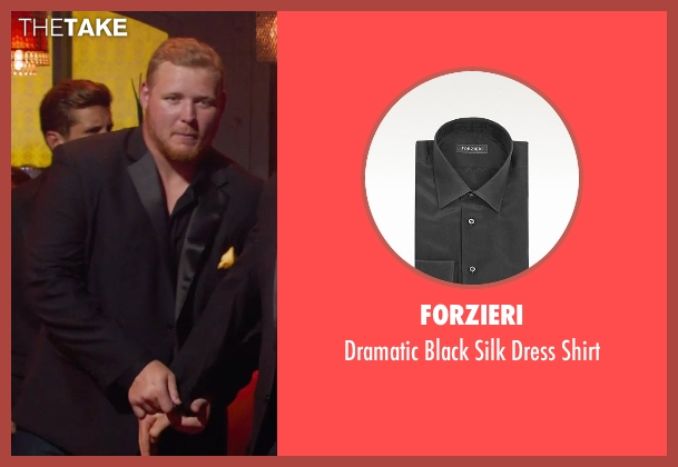 Forzieri black shirt from Pitch Perfect 2 seen with T.J. Lang (Football Player)