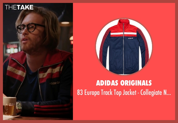 Adidas Originals red navy from Deadpool seen with T.J. Miller (Weasel)