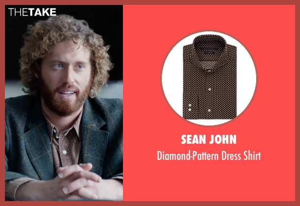 Sean John brown shirt from Office Christmas Party seen with T.J. Miller (Clay)